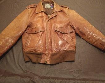 Vintage ww2 leather flight jacket bomber jacket