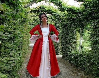 DAR patriot colonial gown Valentine Marie Antoinette dress made to measurements choice of color