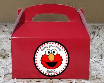 SALE! 12+ Labels Or Boxes & Labels 12 Elmo Treat Boxes, Elmo Gable Boxes, Elmo Party Boxes,  Elmo Stickers LOGO