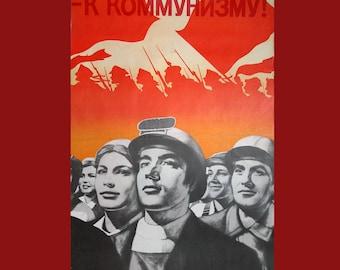 vintage communism propaganda poster