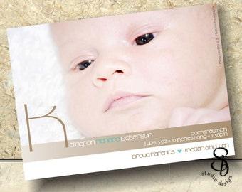 baby announcement card DIY
