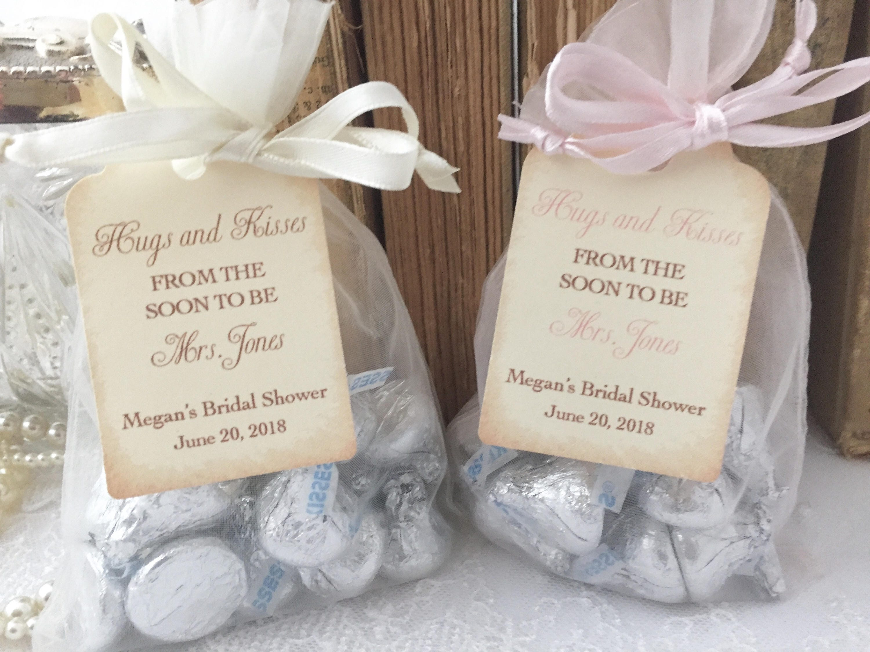 Hugs & Kisses Bridal Shower Bags Hershey Kiss Bridal Shower
