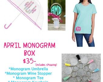APRIL MONOGRAM BOX
