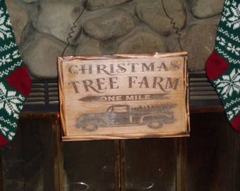 Christmas Tree Farm   Reclaimed Wood   Rustic redwood and poplar sign