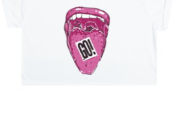 Go Acid Crop Top T Shirt Tee Womens Girl Funny Fun Tumblr Hipster Swag Grunge Kale Goth Punk New Retro Vtg Fashion Bad Drugs Rave Festival
