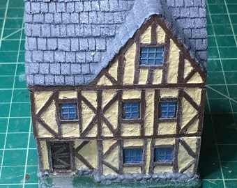 15mm Painted Timber Three Story House w/ Slate Roof
