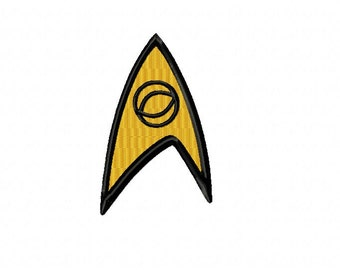 Star Trek SCIENCE Logo ~ Machine Embroidery Design in 2 sizes - Instant Download