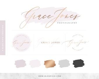 Logo Design - Elegant Logos - Blog Header - Brand Kit - Branding Package - Watermark - Photography Logo