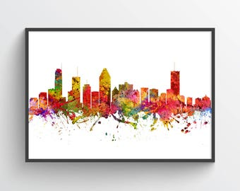 Montreal Poster, Montreal Skyline, Montreal Cityscape, Montreal Print, Montreal Art, Montreal Decor, Home Decor, Gift Idea, CAQCMO08P