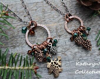 Pine Cone Necklace, Pine Cone Jewelry, Pinecone Necklace, Woodland Jewelry