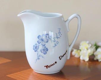milk jug vintage creamer porcelain made in france