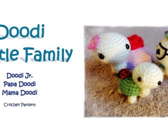 Doodi Turtle Family (PDF Pattern)