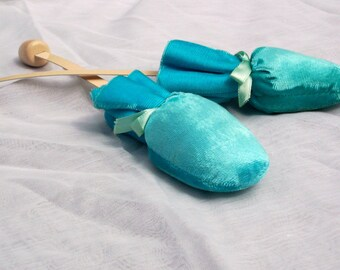 Vintage Blue Velvet Shoe Stretchers