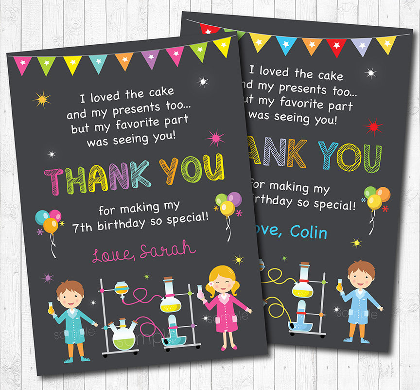 Science Thank you card Science Thank you notes Science
