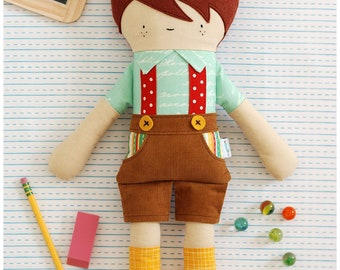 Boy Doll Sewing Pattern - Hans Doll - Fabric Doll - Stuffed Toy Pattern Instant Download