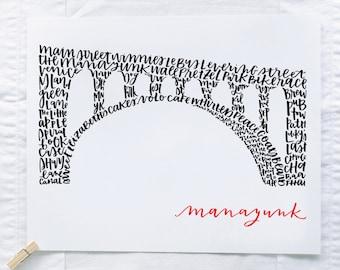 Manayunk Bridge Illustration Print