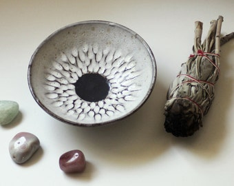 Carved Pottery Bowl - Eclipse Dish