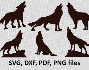 Wolf SVG / Wolf DXF/ Wolf Clipart / Wolf Files, bundle Wolf design, cutting, wolves svg, wolfs svg, wolfes, howling wolf