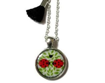 LADYBUG NECKLACE, Little Girl Necklace - Ladybird Neckacle - Ladybird Jewelry - Girls Birthday Party Favor Kids - Red Ladybug Gift