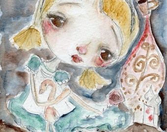 Sweet Alice  - art print by Mindy Lacefield