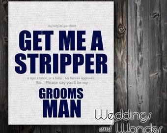 Funny Stripper Groomsman Proposal - Beer Bottle Label