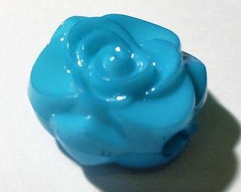 1 Pearl blue camelia 16x8mm AR360 blue