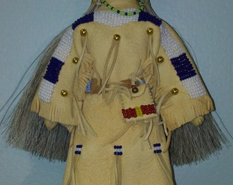 Grey Haired Plains Indian Doll