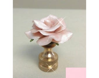 Rose Lamp Finial SB Hand Crafted in Custom Colors