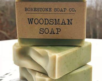 3 BARS - Woodsman Soap (BALSAM FIR)
