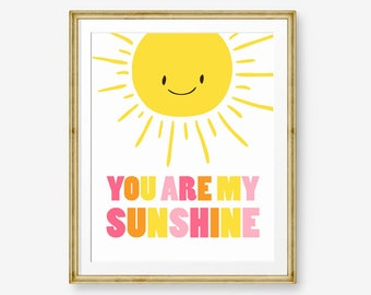 You Are My Sunshine nursery art Nursery Print Sunshine art Yellow Birthday Decor Printable Nursery sunshine Digital PRINTABLE download 8x10