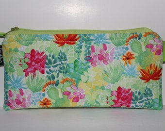 Cash Envelope System Budget Wallet with Tabbed Dividers Dave Ramsey System Coupon Organizer Wallet Coin Pouch Bright Bright Cactus Print