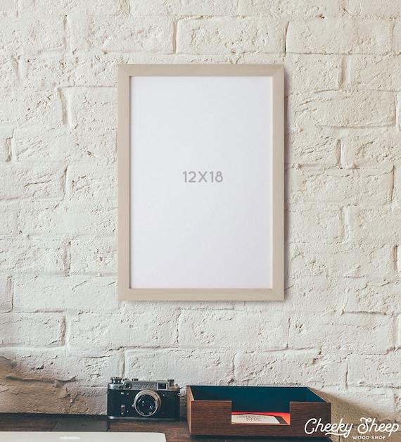 12x18 Poster Frame Wood Picture Frame Large Frame Natural Wood Frame ...