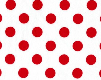 Shannon Minky Cuddle red dots