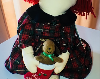 Collectable Vintage Madeline Holiday Trimmings Doll