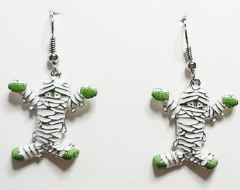 Halloween Mummy Earrings