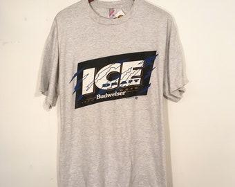 Vintage 90's Bud Ice Shirt Large XL Budweiser Bud Light