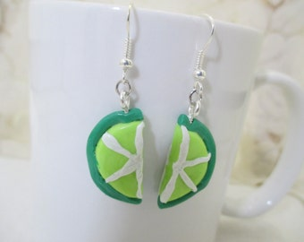 Lime Wedge Earrings