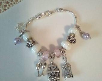 Wine Lovers Charm Bracelet