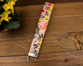 Floral Key FOB - Floral Key Chain, Spring Key FOB, Spring Key Chain
