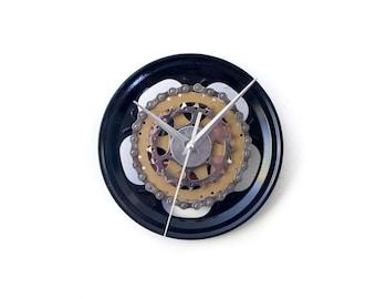 Industrial Wall Clock, Modern Wall Clock, Unique Wall Clock, Bicycle Wall Clock, Industrial Design Clock, Steampunk Clock, Bike Wall Clock,