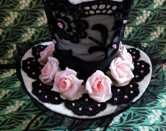 Mini top hat Topper Marie-Antoinette Romantique