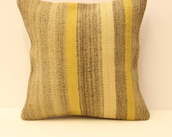Turkish textile pillow cover 16x16(40x40 cm) handmade kilim cushion home design boho pillow throw pillov covers  pillow  K-124
