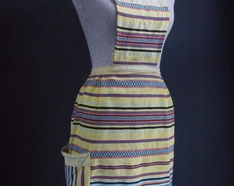 Vintage apron - apron dress - tribal textiles - beachwear - summer dress - boho chic -hippie  - festival wear - pinny - pinafore - jumper