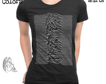 Women's Joy Division - Unknown Pleasures T-shirt, Tee, American Apparel, Music, Rock, Retro, Ian Curtis, Punk, , Cute Gift