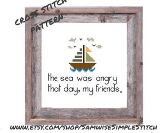 Seinfeld, Kramer quote, the sea cross stitch PATTERN
