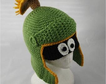 Crochet Pattern 055 - Alien Martian Hat - All Sizes