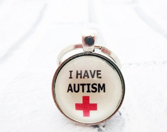 Medical alert, medical jewelry,autism awareness,medical id,special needs,disability awareness,autism jewelry,ICE keyring,autism charm