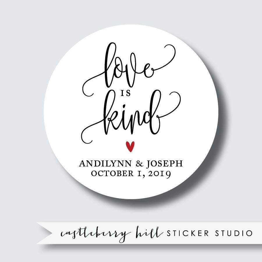 Love is kind stickers 1 Corinthians love is patient wedding