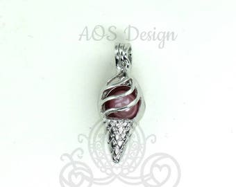 Disney Princess Snow White Red Apple Sterling Silver Pendant