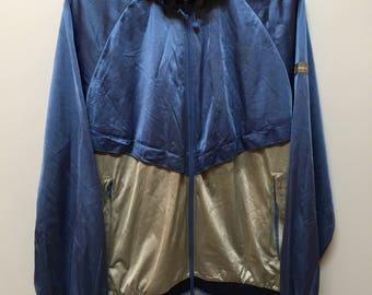 Vintage 90s Men Champion Windbreaker Light Jacket Detach Hoodie Raincoat